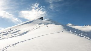 Snowmobile Assisted Backcountry Skiing
